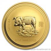 Zlatá mince lunární série I. rok Vepře 2007