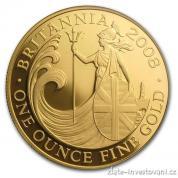 Investiční zlatá mince Britannia-2008