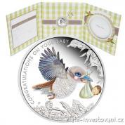 Stříbrná mince k narození děťátka-Newborn Baby