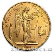 Zlatá mince francouzský 100 frank-Anděl-Genius 1899