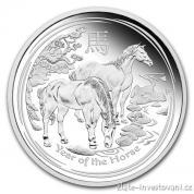 Stříbrná mince rok koně 2014-lunární série II
