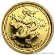 Investiční zlatá mince rok draka 2012-proof