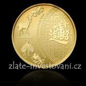 Investiční zlatá mince Patero požehnání-Kanada 2014