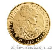 Investiční zlatá mince Britannia-2010
