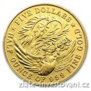 Investiční zlatá mince Fénix-Singapůr