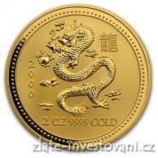 Investiční zlatá mince rok draka 2000-lunární série I.