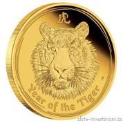 Investiční zlatá mince rok Tygra 2010-lunární série II