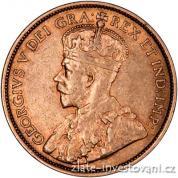 Zlatá mince kanadský pětidolar-král George V.