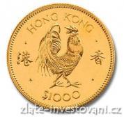 Investiční zlatá mince rok kohouta 1981-Lunární série Honkong