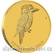 Investiční zlatá mince australský Kokaburra 2014