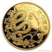 Zlatá mince rok draka 2012-lunární série Francie