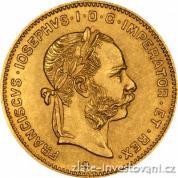 Investiční zlatá mince čtyřzlatník-4 gulden Rakousko 1892