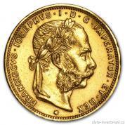Investiční zlatá mince osmizlatník-novoražba 1892