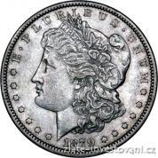 Stříbrná mince americký dolar-Morgan dollar