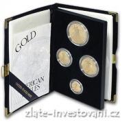 Investiční zlatá sada mincí americký Eagle-proof