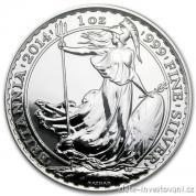 Investiční stříbrná mince Britannia