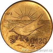 Investiční zlatá mince dvacet liber-Malta 1972