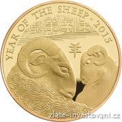 Investiční zlatá mince rok kozy 2015-lunární série Royal Mint
