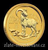 Investiční zlatá mince rok Kozy 2015-lunární série II.