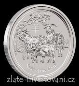 Investiční stříbrná mince rok Kozy 2015-lunární série II.