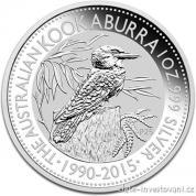 Investiční stříbrná mince australská kookaburra 2015