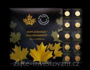 Investiční zlaté mince-kanadský Maplegram-25g