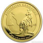 Investiční zlatá mince australský klokan-nugget -2016