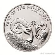 Stříbrná mince lunárního kalendáře rok Ovce-UK