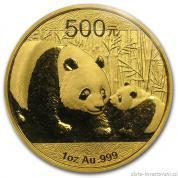 Investiční zlatá mince čínská Panda 2011