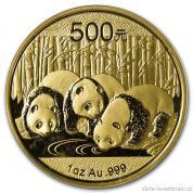 Investiční zlatá mince čínská Panda 2013