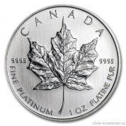 Investiční platinová mince kanadský Maple Leaf