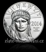 Investiční platinová mince americký Eagle