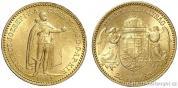 Zlatá mince Dvaceti koruna  Františka Josefa I.uherská ražba 1893 KB
