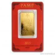 Investiční zlatá cihla rok Kozy 2015-PAMP