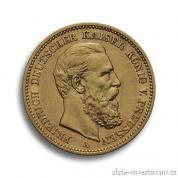 Zlatá mince pruská Dvacetimarka-Friedrich III.