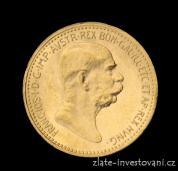 Zlatá mince  Desetikoruna Františka Josefa I.- rakouská ražba 1909-malá hlava