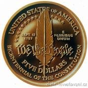 Zlatá výroční  mince Ústava -200. výročí