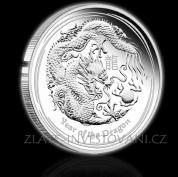 Investiční stříbrná mince rok draka 2012