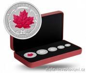 Stříbrný set frakcí Maple Leaf 2015