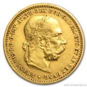 Zlatá mince  Desetikoruna Františka Josefa I.- rakouská ražba 1905