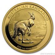 Investiční zlatá mince australský klokan 2013-nugget