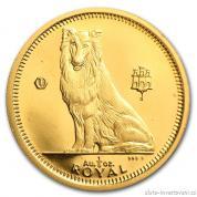 Investiční zlatá mince Kolie-Gibraltar