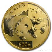 Investiční zlatá mince čínská Panda 2008