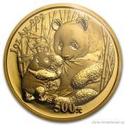 Investiční zlatá mince čínská Panda 2005