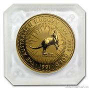 Investiční zlatá mince australský klokan 1991-nugget