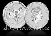 Investiční stříbrná mince rok koně  2014