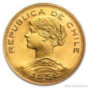 Zlatá mince Sto pesos Liberty-Chile