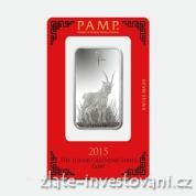 Investiční stříbrná cihla rok kozy 2015-PAMP