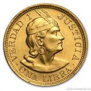 Zlatá mince Una libra-Peru