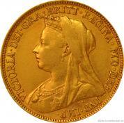 Investiční zlatá mince britský Sovereign-Victoria1893-1903